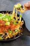 This cheesy taco dip will be the star of your parties and gathering! Serve it with homemade rosemary garlic tortilla chips for more flavor! Game days are going to be delicious!