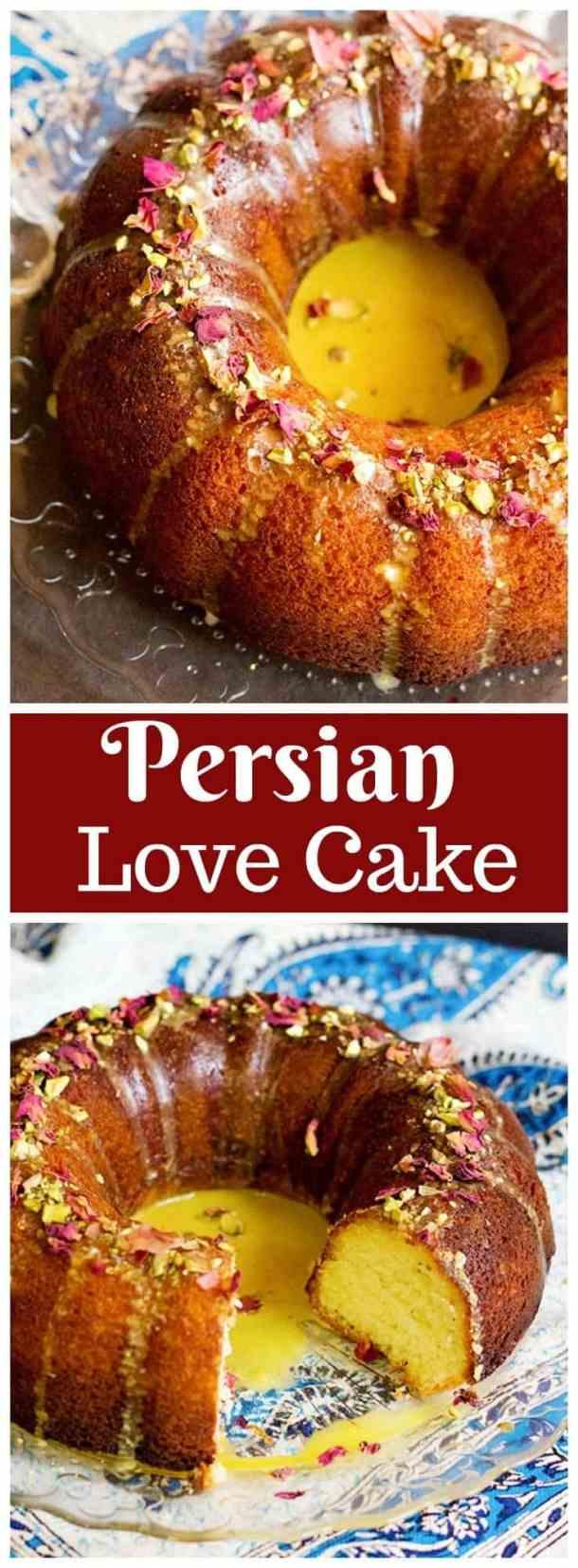 Persian Love Cake | Persian Love Cake Recipe | Persian Love Cake Wedding | Persian Love Cake Rose | Persian Love Cake Bundt | Persian Valentine | Unicornsinthekitchen.com