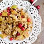Apple Cranberry Almond Crisp