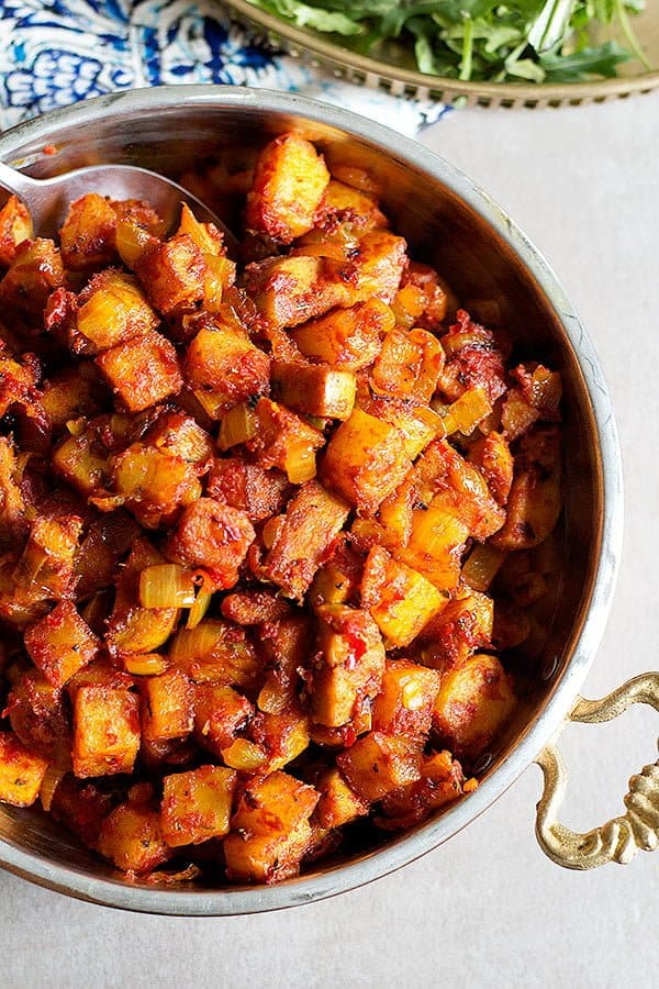 A Persian fast food favorite, this Persian sausage and potato skillet is quick to make and requires a handful of ingredients. We love to have it with Iranian bread but it would go great with a baguette, too!