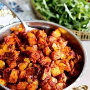 Persian Sausage and Potato Skillet – Sosis Bandari