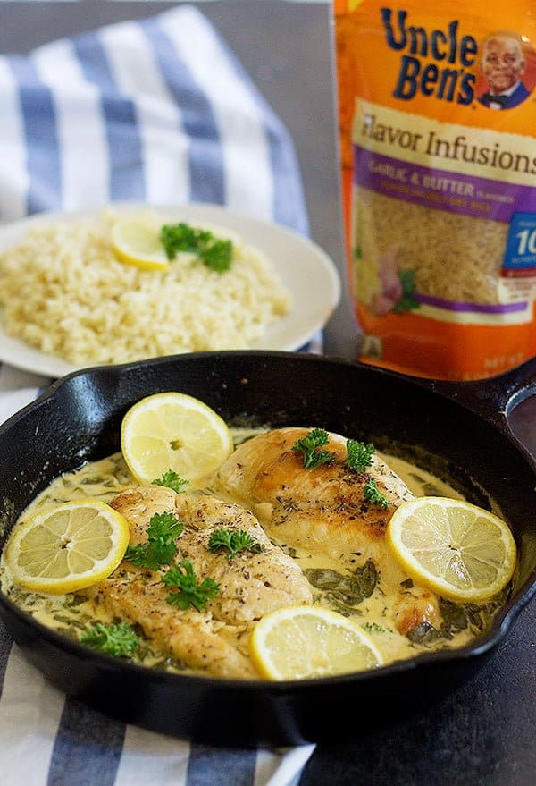 Easy Lemon Butter Chicken is a fantastic family dinner option. Juicy chicken bursting with amazing flavors takes your usual dinner to a whole new level!