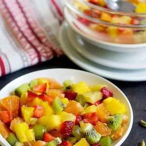 Honey Rose Water Fruit Salad