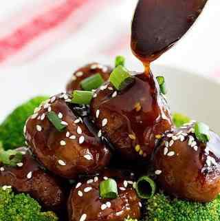 Ginger Garlic Chicken Meatballs