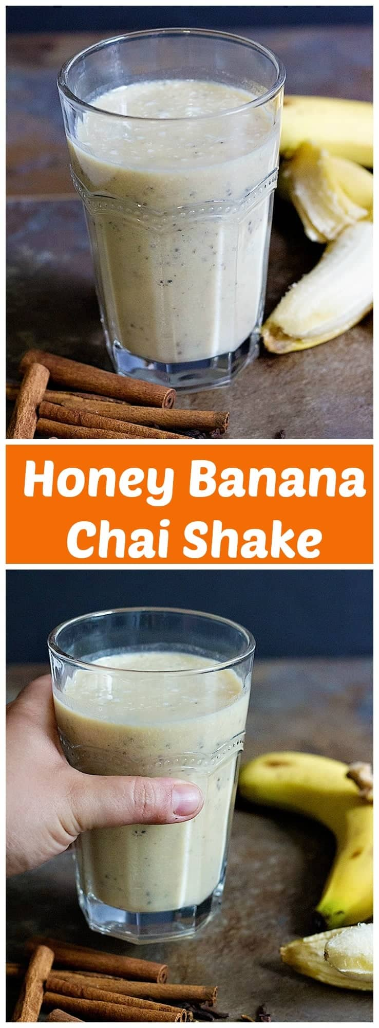 Start your morning with a lot of energy by making this Honey Banana Chai Shake. It's naturally sweetened and full of amazing flavors!