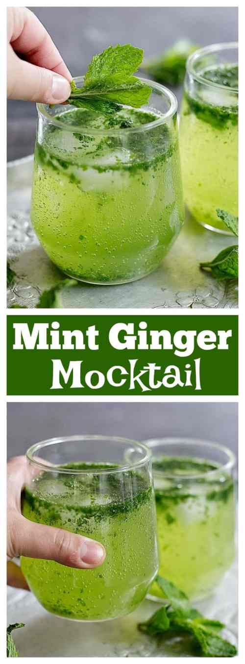 Make your summer much cooler with this delicious and easy homemade mint ginger mocktail. It's refreshing, delicious, and your family will love it!