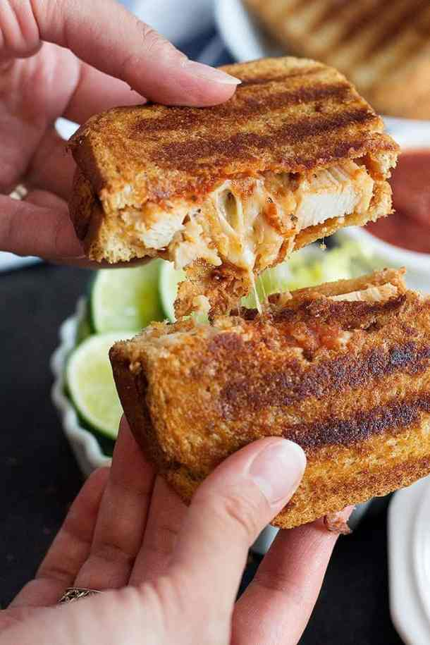 Grilled Chicken parmesan sandwich is the best with stretchy cheese