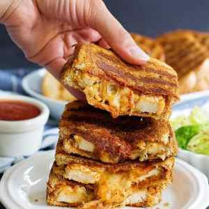 Grilled Cheese Chicken Parmesan Sandwich