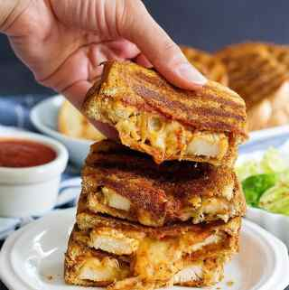 Chicken Parmesan Grilled Cheese Sandwich