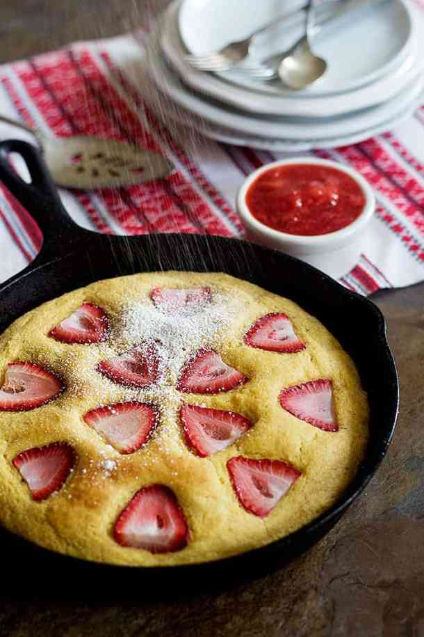 Take a new twist on a good old favorite. This Strawberry Cornbread is delicious and very simple to make. It's served with an irresistible homemade strawberry sauce!