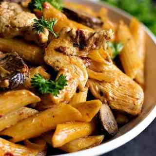 Adobo Pasta with Chicken