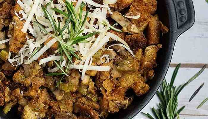 Easy Homemade Stuffing with Mushrooms