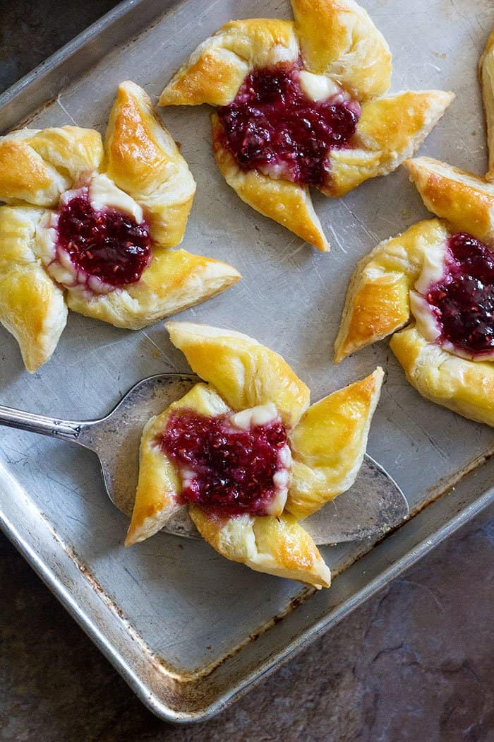 Easy Raspberry Danish • Unicorns in the Kitchen