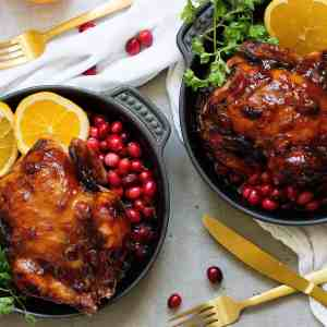 Cornish Hen Recipe with Cranberry Orange Glaze