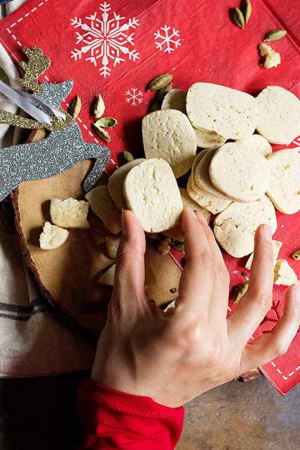 Cardamom Shortbread Cookies are a new twist on the good old classic!