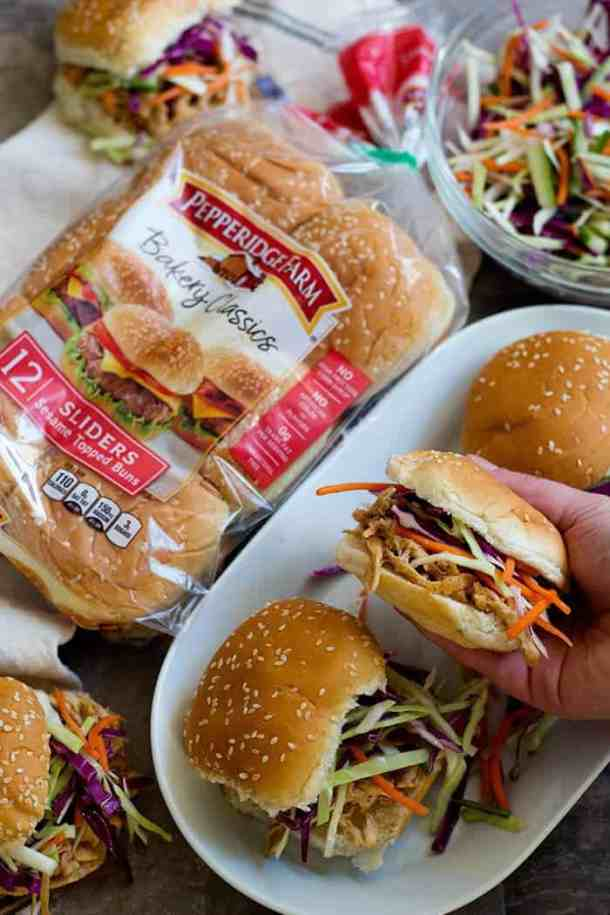 These Asian Chicken Sliders are perfect for game days and gatherings. You can easily feed a crowd with this recipe.