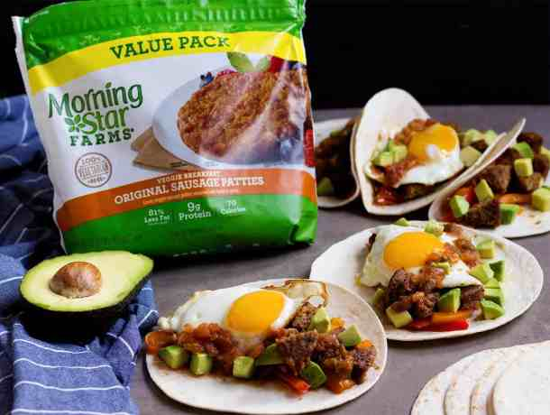 Breakfast Tacos Recipe - These vegetarian tacos are perfect for breakfast.