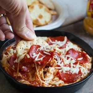 Pizza Dip with Pepperoni