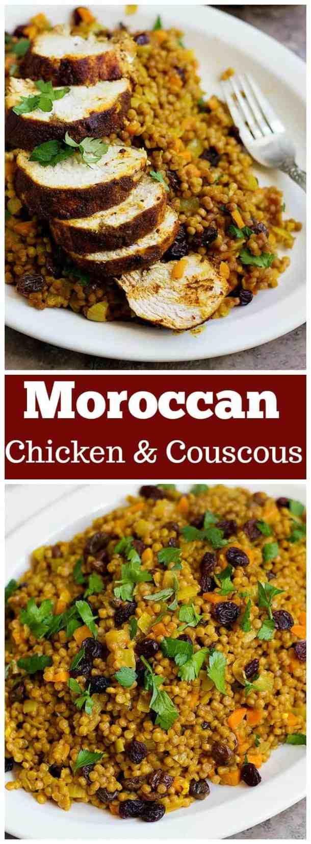 Moroccan Chicken | Moroccan Chicken Recipe | Moroccan chicken and couscous | Moroccan chicken stew | unicornsinthekitchen.com