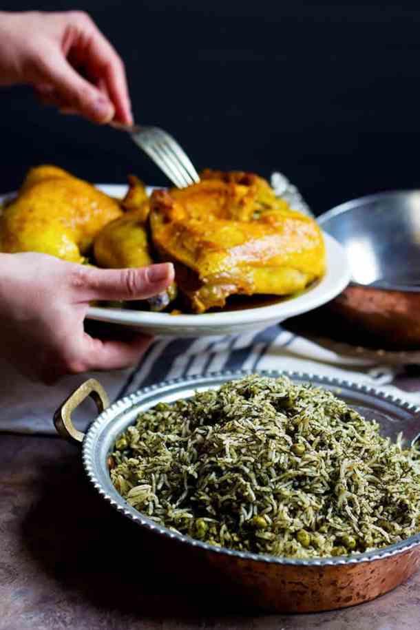 Serve Dill Rice with Saffron Chicken