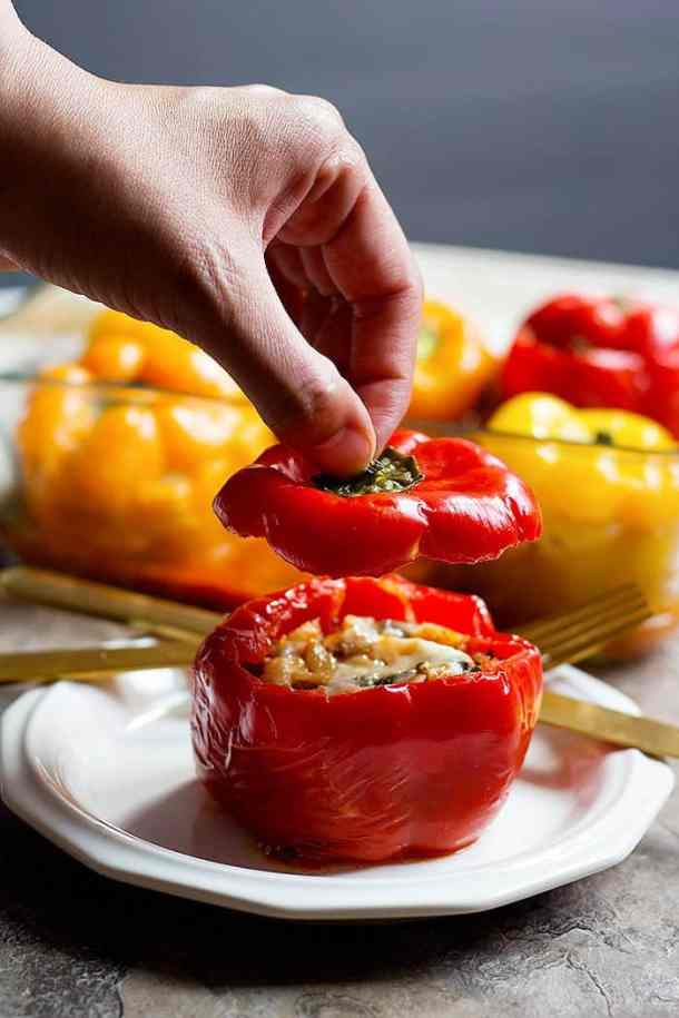 Italian stuffed peppers are the perfect family dinner.