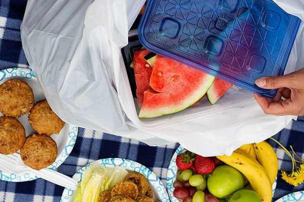 Sunday Picnics are fun with delicious homemade goods and fruit.