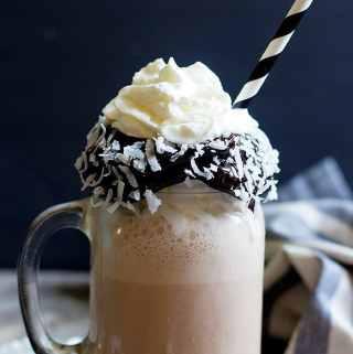 Coconut Milkshake for Chocolate Lovers