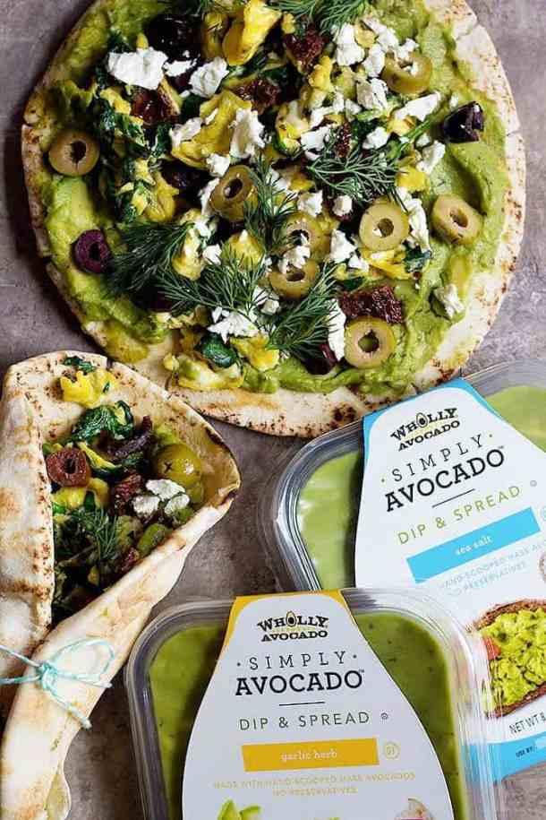 avocado breakfast sandwich is made with avocado spread.