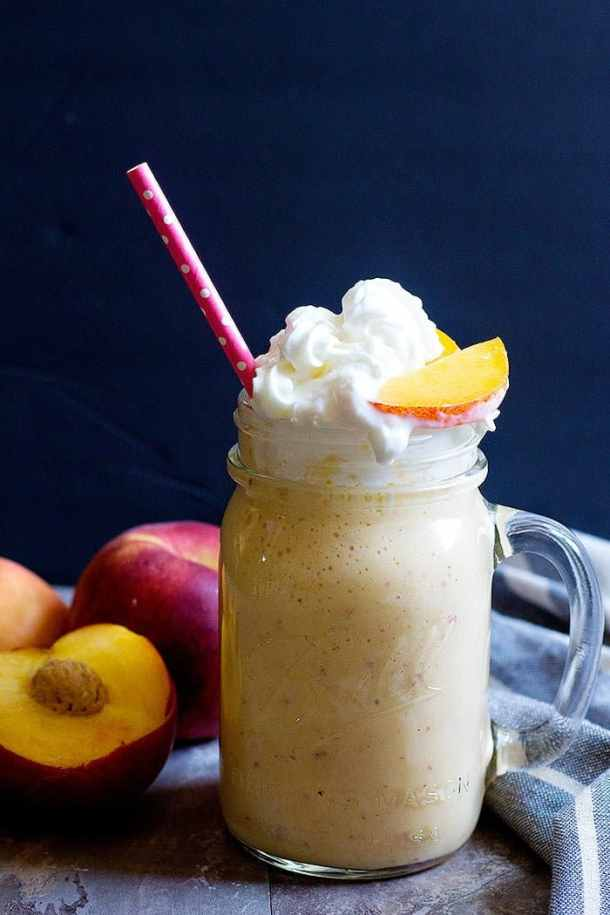 Healthy milkshake made with frozen yogurt and non fat milk is perfect for summer.