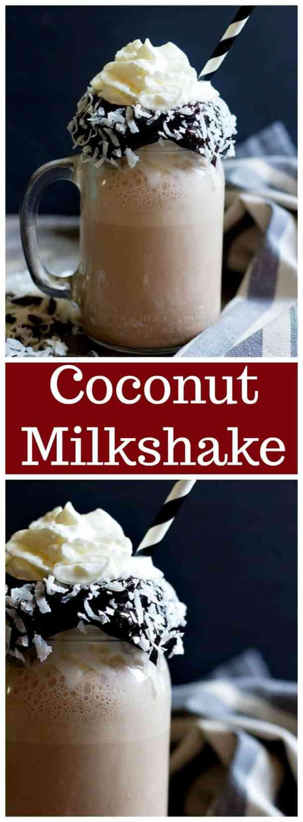 Coconut milkshake | coconut milkshake recipe | milkshake recipe | summer recipes | easy milkshake recipe | chocolate milkshake | coconut chocolate milkshake | #milkshake #milkshakerecipe #drinkrecipes #chocolatelovers #coconut