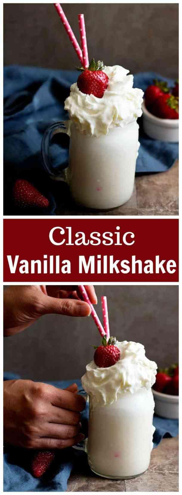 Classic vanilla milkshake | vanilla milkshake | milkshake | milkshake recipe | easy milkshake | summer drinks | summer recipes | #milkshake #vanillamilkshake #milkshakerecipe