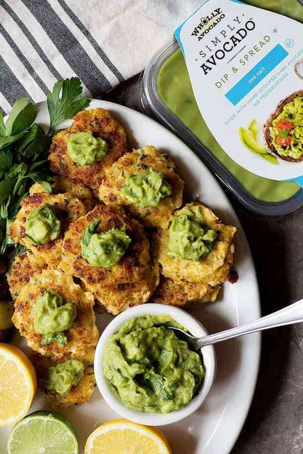 Serve shrimp patties with zesty avocado dipping sauce.