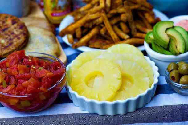 for Hawaiian burger you need pineapple