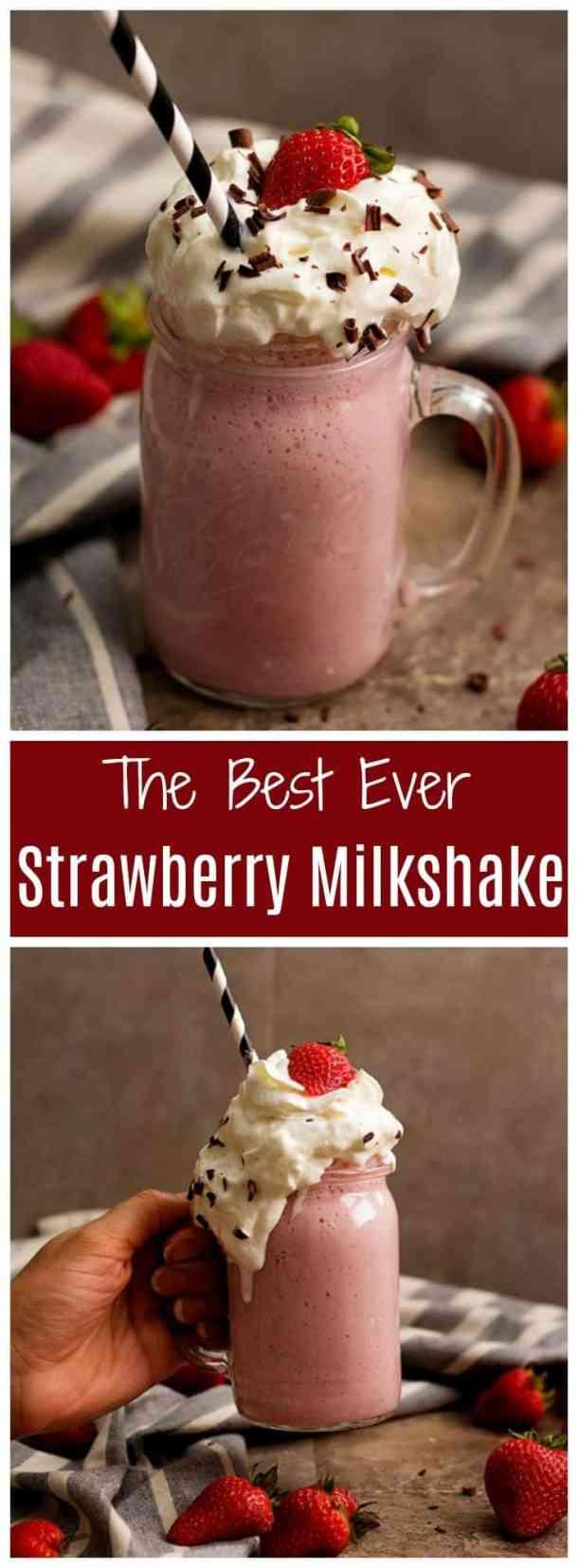 strawberry milkshake | milkshake recipe | summer drink recipes | milkshake | strawberry recipes | summer recipes | fresh strawberries | #milkshake #recipes