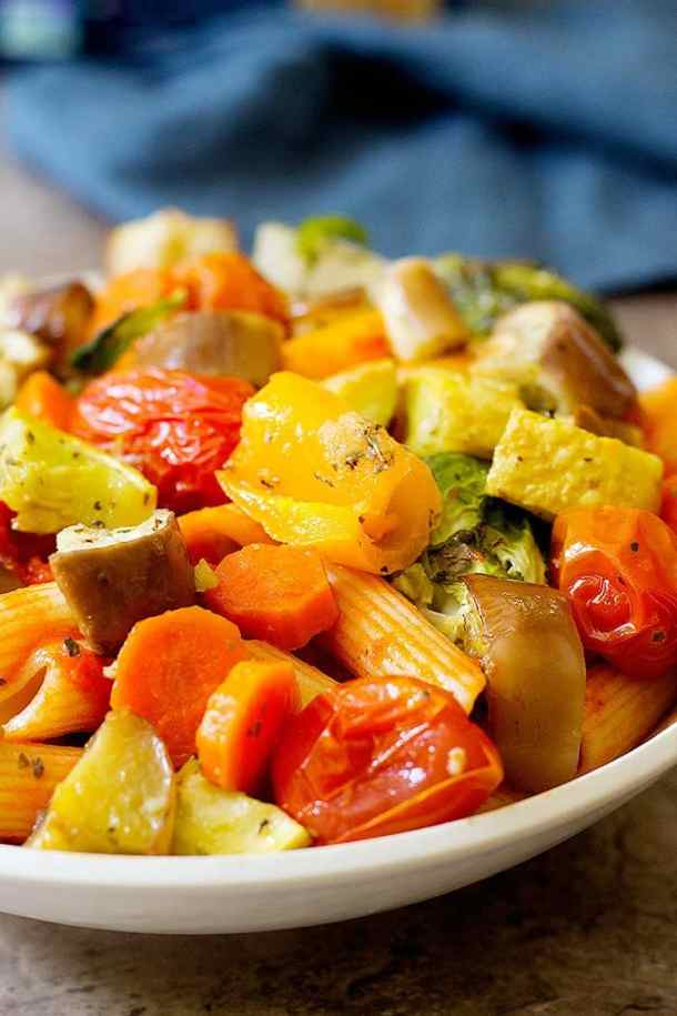 This vegetarian pasta recipe is perfect for a quick weeknight dinner.