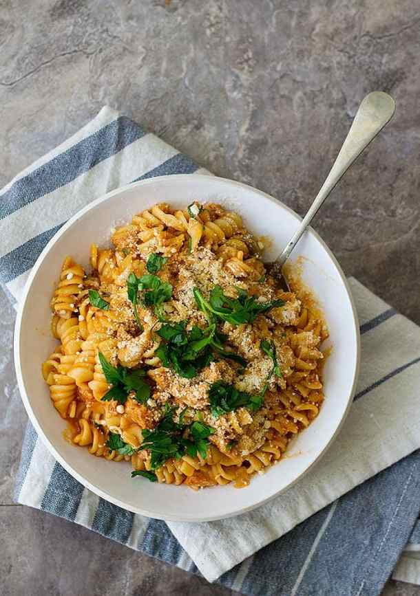 This Italian sausage pasta recipe is perfect for family dinner.
