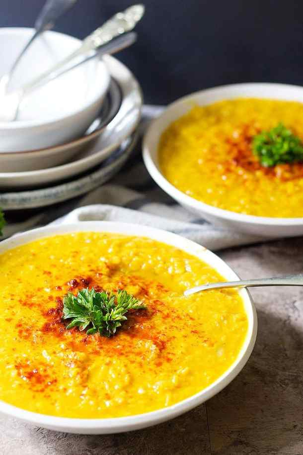 This red lentil soup recipe is perfect for fall and times that you need comfort food.