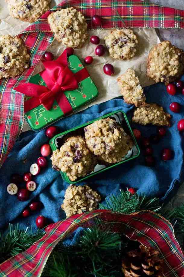 Delicious cranberry cookies that are perfect for Christmas.