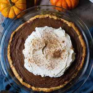 Homemade Pumpkin Pie with Chai Spice