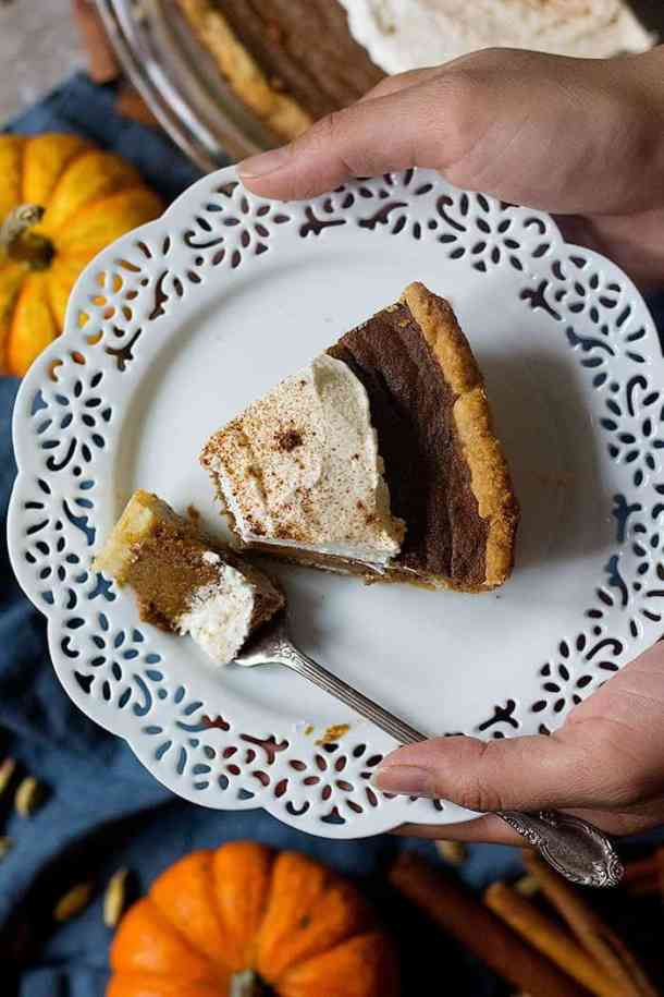 Chai pumpkin pie is perfect for fall.