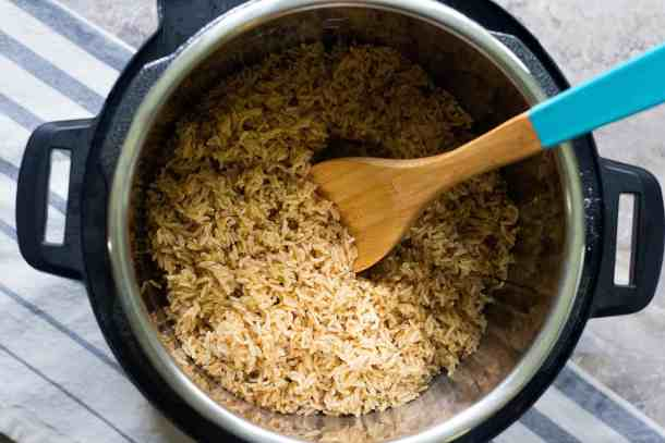 You can use the exact same method to make brown basmati rice in instant pot.