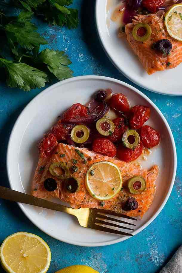 Since this baked Alaska salmon recipe comes together in only 30 minutes and is packed with amazing flavors, it's a great option for busy weeknight dinners. As the Alaska salmon is baking, make a quick salad and you'll have a full meal.