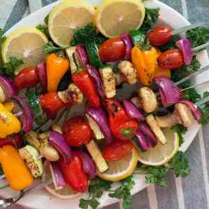 Veggie Shish Kabob with Garlic and Thyme [Video]
