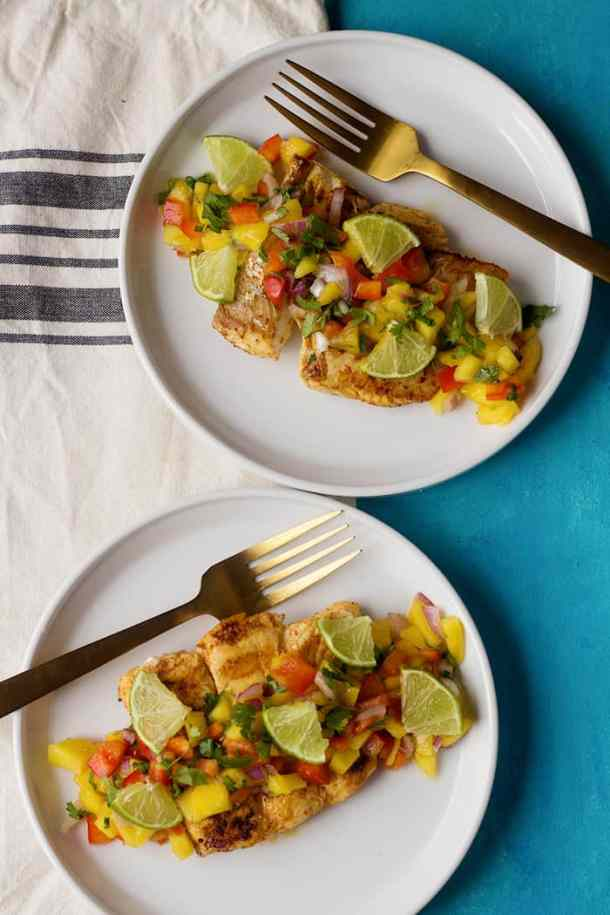 This halibut dinner makes a great indoors restaurant quality dinner