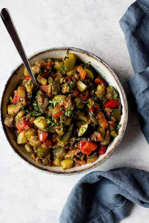 Ratatouille is a hearty and healthy French dish that's packed with flavor. This ratatouille recipe is made with summer vegetables that are stewed perfectly together.