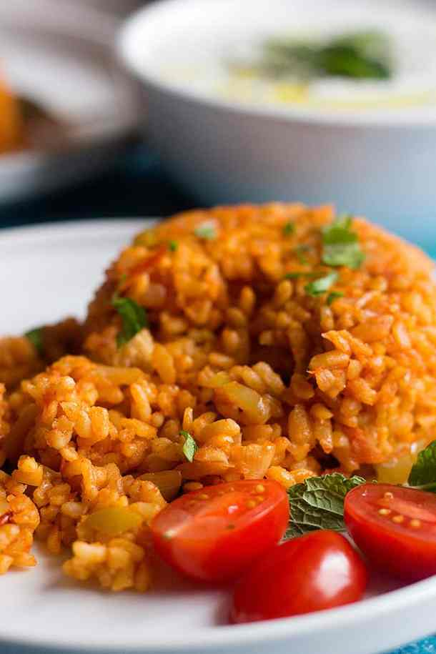 Turkish bulgur pilaf is a common side dish that's vegetarian and easy to make.