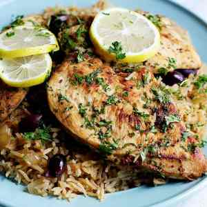 Greek One Pan Chicken And Rice