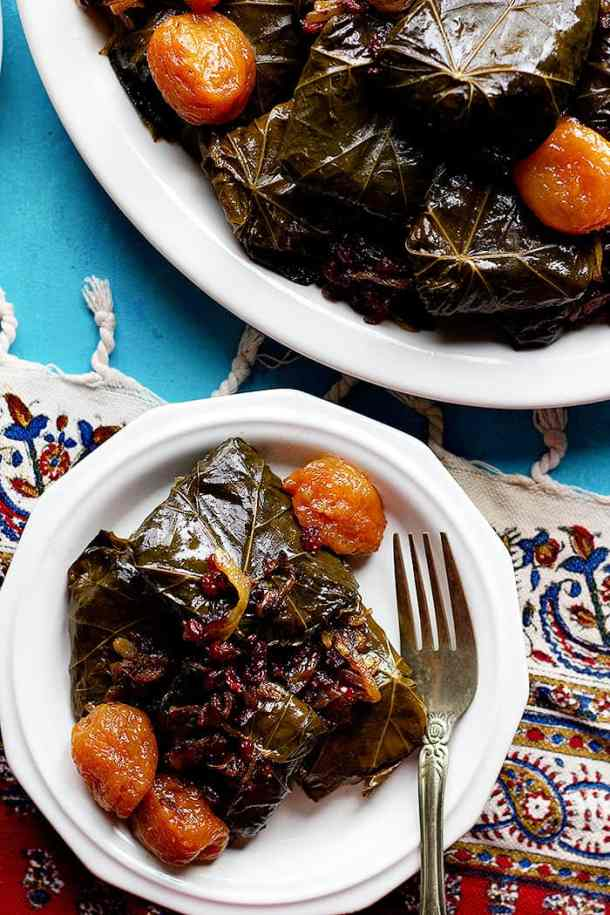 You can serve these warm or cold. this Persian Dolmeh recipe is delicious..