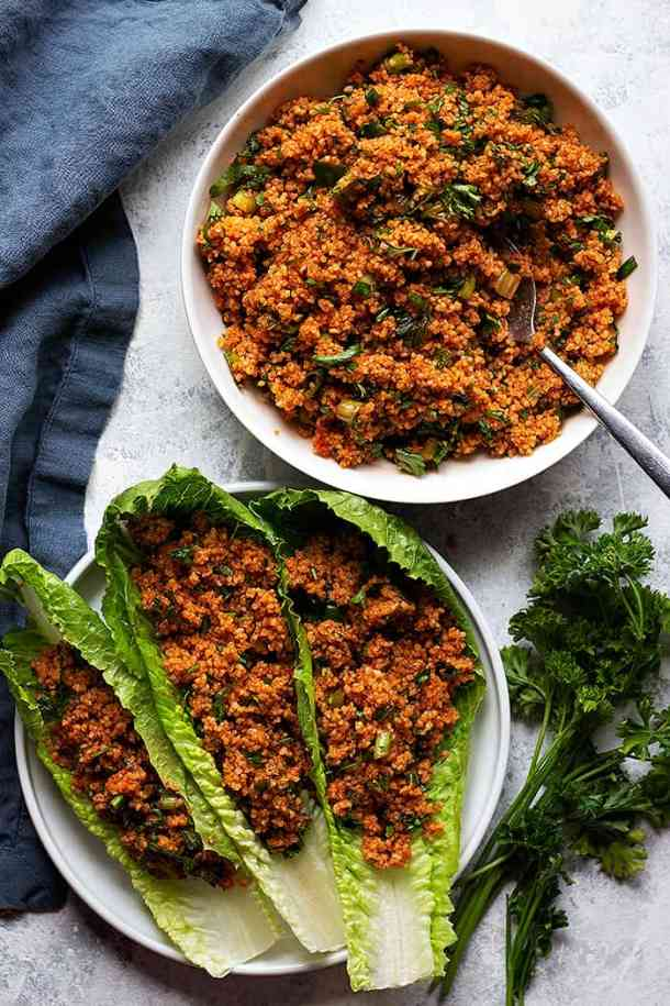 An easy bulgur salad recipe that's made with bulgur wheat, herbs and olive oil. This Turkish bulgur salad is a great addition to any table.
