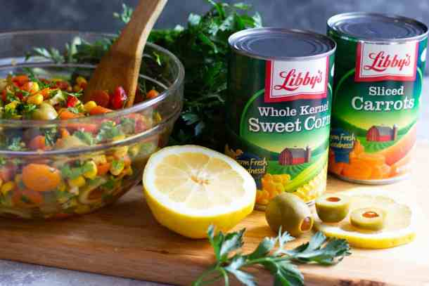 I used libby's sweet corn and carrots for this recipe.